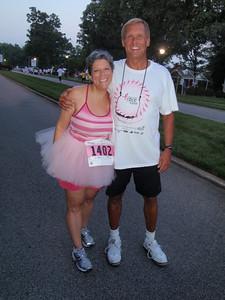 We ran into Ellie (Dennis' friend from IBM HR) who is a breast cancer survivor.