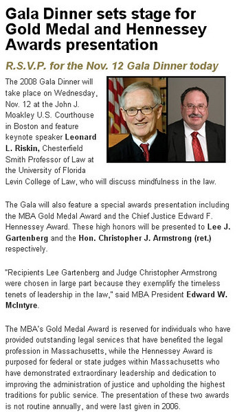 About the awards dinner -- from the Mass Bar Association Web site