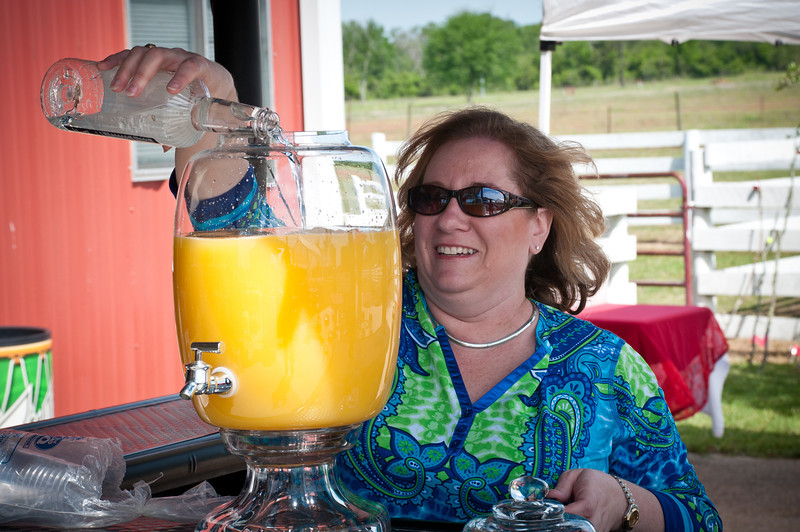 Kim Hopcus preparing the Bremond Tavern Punch