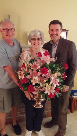 Betty and Jenny thanked Steve and Kevin for the flowers when they visited