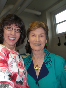 Jenny and Joan Norton at church (adopted Mom#1)