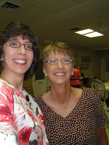 Jenny and Becky Linville at church (adopted Mom#2)