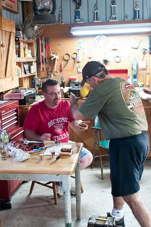 Brian and Jakub Marshall with Brian Wisnoski