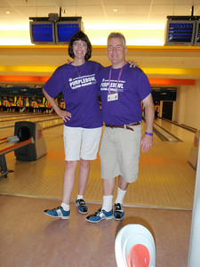Jenny and former IBM officemate Ken Welsh (with matching bowling shoes!)