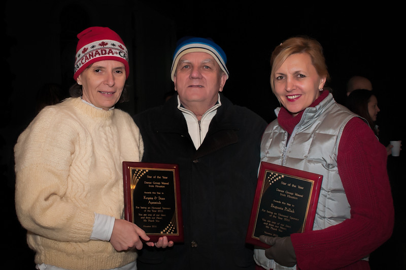 Presentation of Dance Group Wawel's Star Of The Year Honored Sponsor awards