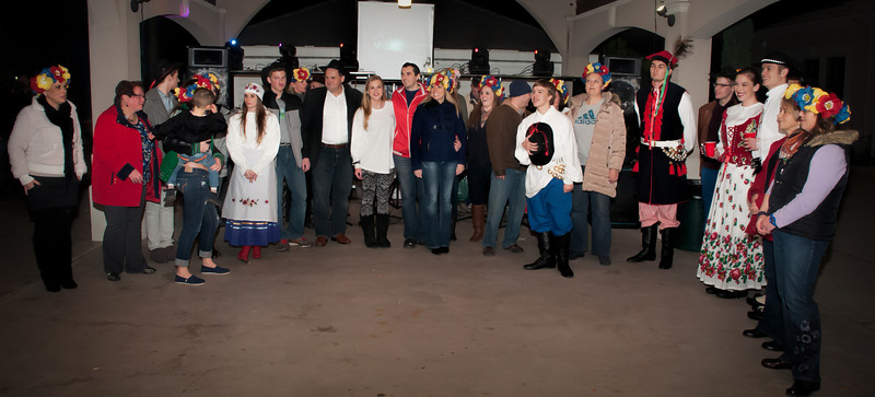Group photo of the Wawel Dance Group and Supporters