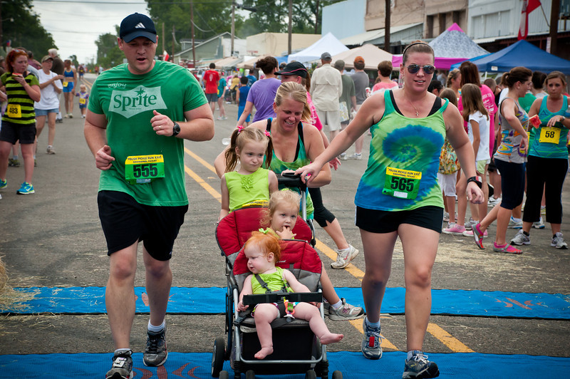 Running is a family affair at Bremond's Pickle Run.