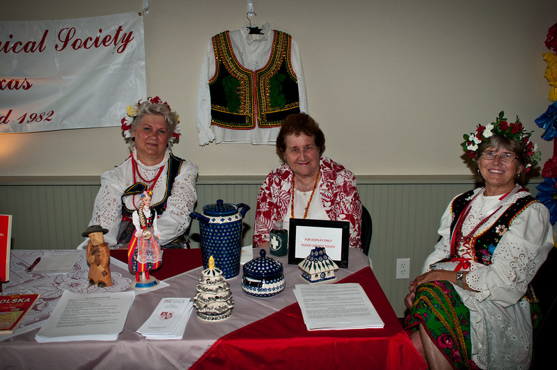 Polish Genealogical Society of Texas booth in the Bremond museum.
