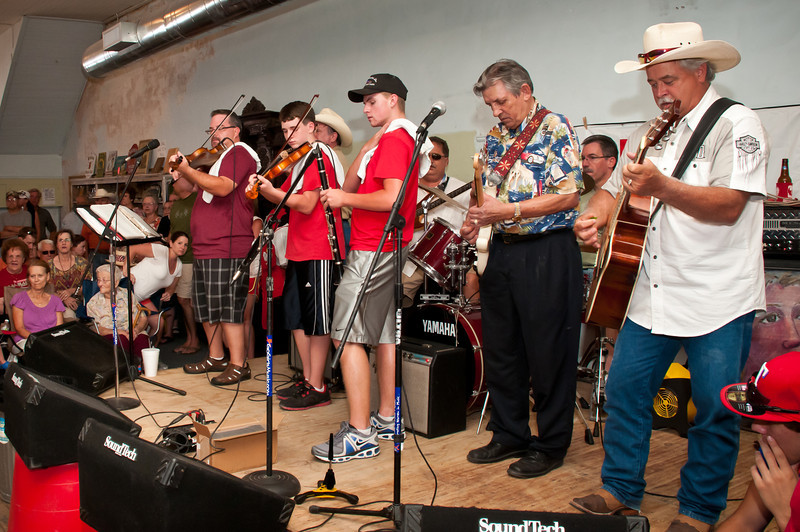 Brian Marshall and friends playing Polish music in the TSG warehouse.