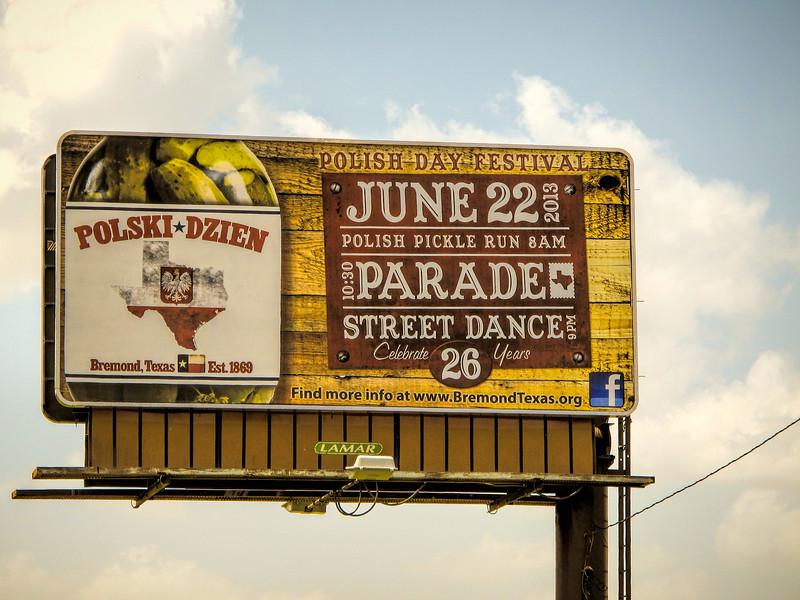 Billboard on the highway advertising Polski Dzien