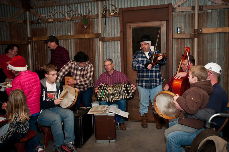 "Jam session with the next generation at Jozwiak Store in Chappell Hill, Texas after ""Polskie Kolędy"" Polish Christmas Caroling"