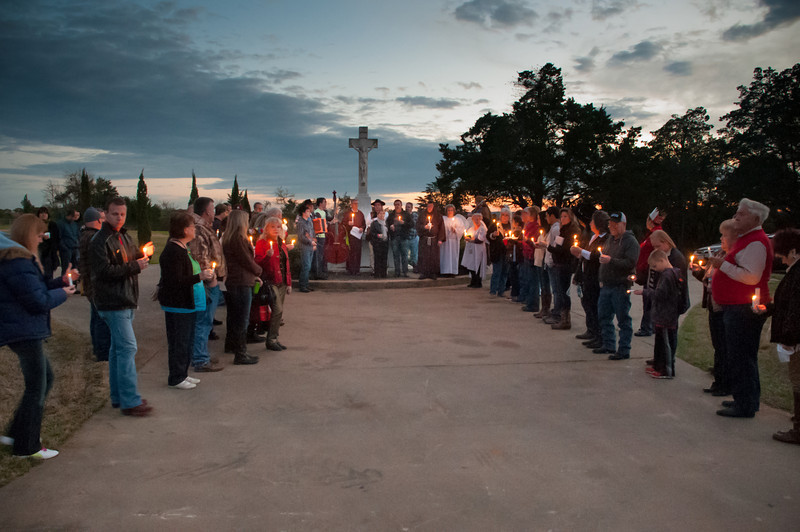 St. Stanislaus Catholic Cemetery candle light ceremony.