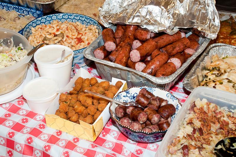 Lots of good homemade Polish and Texas food