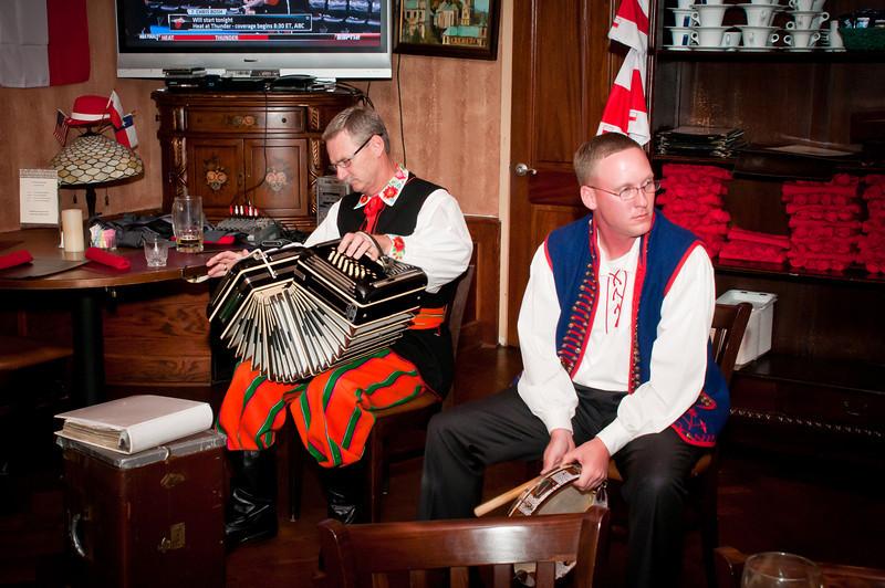 Dr. Jim and James Mazurkiewicz entertaining the Silesians