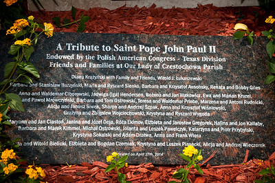 St. John Paul II Memorial Installation