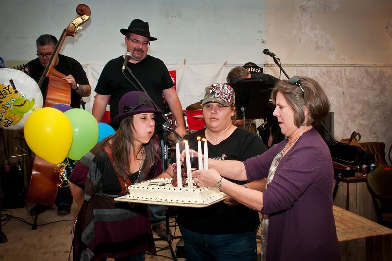 Texas Slav & German Warehouse owner Denise Gouge celebrates her birthday