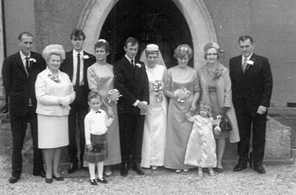 <font size=3><u> -Mick Wolfe and Bobby Beal's Wedding - 1960 </u></font> (BS0168)