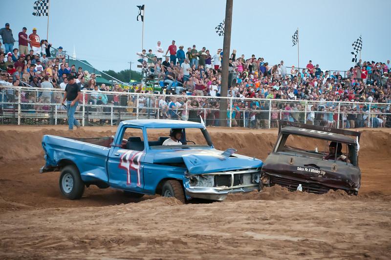 Chris Budzisz in truck #44.