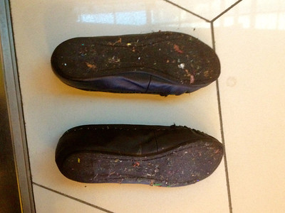 For my friends in Nauru . . . your shoes after Melbourne Nightclub.