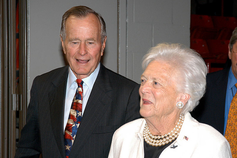 George & Barbara Bush-422