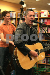 Ed Robertson and Jim Creeggan of the Barenaked Ladies celebrate the release of their new children's album and book, SNACKTIME, with a performance at Borders in Oakbrook, IL, 10 May, 2008