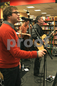 Kevin Hearn and Tyler Stewart of the Barenaked Ladies celebrate the release of their new children's album and book, SNACKTIME, with a performance at Borders in Oakbrook, IL, 10 May, 2008