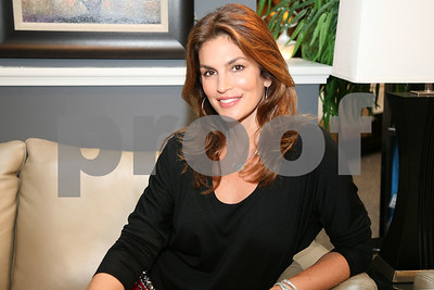 Cindy Crawford makes an appearance at the Room Place to launch her new Cindy Crawford Home Furnishing Line in Chicago, Illinois on September 21, 2008