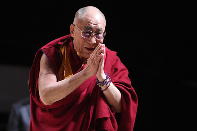 The Dalai Lama gives a public talk on Non-violence at  Loyola University in Chicago, IL, USA on Thursday, April 26, 2012