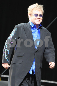 Elton John and Billy Joel perform at Wrigley Field in Chicago as part of the Face 2 Face Tour. Chicago, IL USA 16, July, 2009