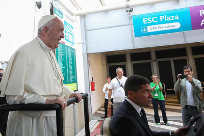 Pope Francis visits the 2016 ESC Congress in Rome, Italy.European Society of cardiology August 31, 2016
