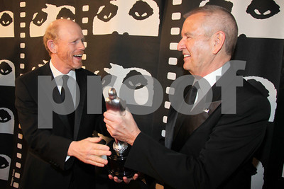 The 46th Chicago International Film Festival's Summer Gala honors actor and director Ron Howard with a lifetime achievement award at the Museum of Science and Industry. Michael Kutza, founder of the Festival, presents Howard with the award.  Chicago USA, Saturday 12, June 2010.