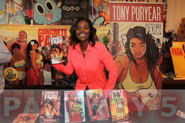 Erika Alexander, Tony Puryear and Robert Alexander Comic Book Signing of Concrete #1