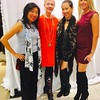 From left, Dr. Waichi Wong, stylist Elisha Daniels, Yulin Hswenall of Boston and Erin Langton of Medfield.