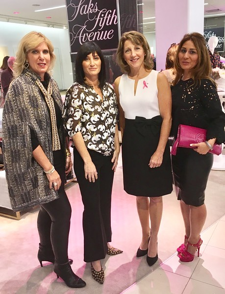 Co-chairs of the event and Friends of Dana Farber board members Elaine Zouzas Thibault of Chelmsford, Dana Gerson Unger of Newton, First Lady of Massachusetts Lauren Baker of Swampscott and co-chair Anita Fink of Chestnut Hill