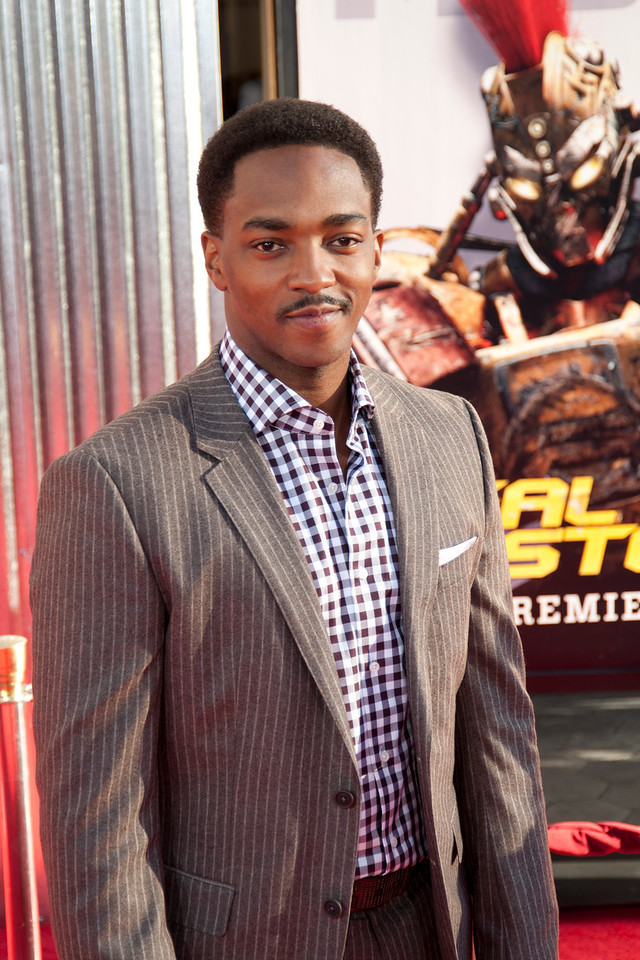 UNIVERSAL CITY, CA - OCTOBER 2: Actor Anthony Mackie arrives at the World Premiere of 'Real Steel' at the Gibson Amphitheatre on October 2, 2011 in Universal City, California. (Photo by Tom Sorensen/Moovieboy Pictures)