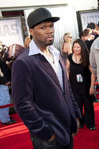 UNIVERSAL CITY, CA - OCTOBER 2: Actor/rapper Curtis '50 Cent' Jackson  arrives at the World Premiere of 'Real Steel' at the Gibson Amphitheatre on October 2, 2011 in Universal City, California. (Photo by Tom Sorensen/Moovieboy Pictures)