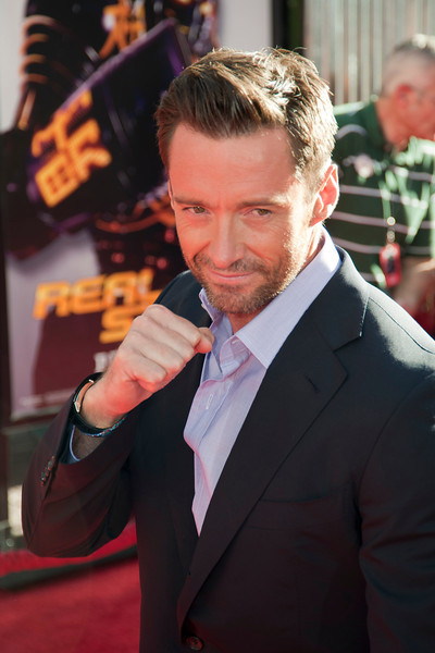 UNIVERSAL CITY, CA - OCTOBER 2: Hugh Jackman arrives at the World Premiere of 'Real Steel' at the Gibson Amphitheatre on October 2, 2011 in Universal City, California. (Photo by Tom Sorensen/Moovieboy Pictures)