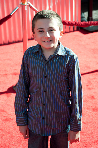 UNIVERSAL CITY, CA - OCTOBER 2: Atticus Shaffer arrives at the World Premiere of 'Real Steel' at the Gibson Amphitheatre on October 2, 2011 in Universal City, California. (Photo by Tom Sorensen/Moovieboy Pictures)