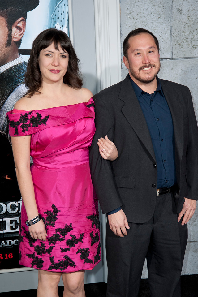 WESTWOOD, CA: Producer Ethan Erwin and Meredith Berg arrive at the premiere of Warner Bros. Pictures' 'Sherlock Holmes: A Game Of Shadows' held at the Regency Village Theatre in Westwood, California. Photo taken on Tuesday, December 6, 2011 by Tom Sorensen/Moovieboy Pictures.