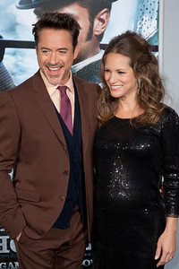 WESTWOOD, CA: Actor Robert Downey Jr. and producer Susan Downey arrive at the premiere of Warner Bros. Pictures' 'Sherlock Holmes: A Game Of Shadows' held at the Regency Village Theatre in Westwood, California. Photo taken on Tuesday, December 6, 2011 by Tom Sorensen/Moovieboy Pictures.