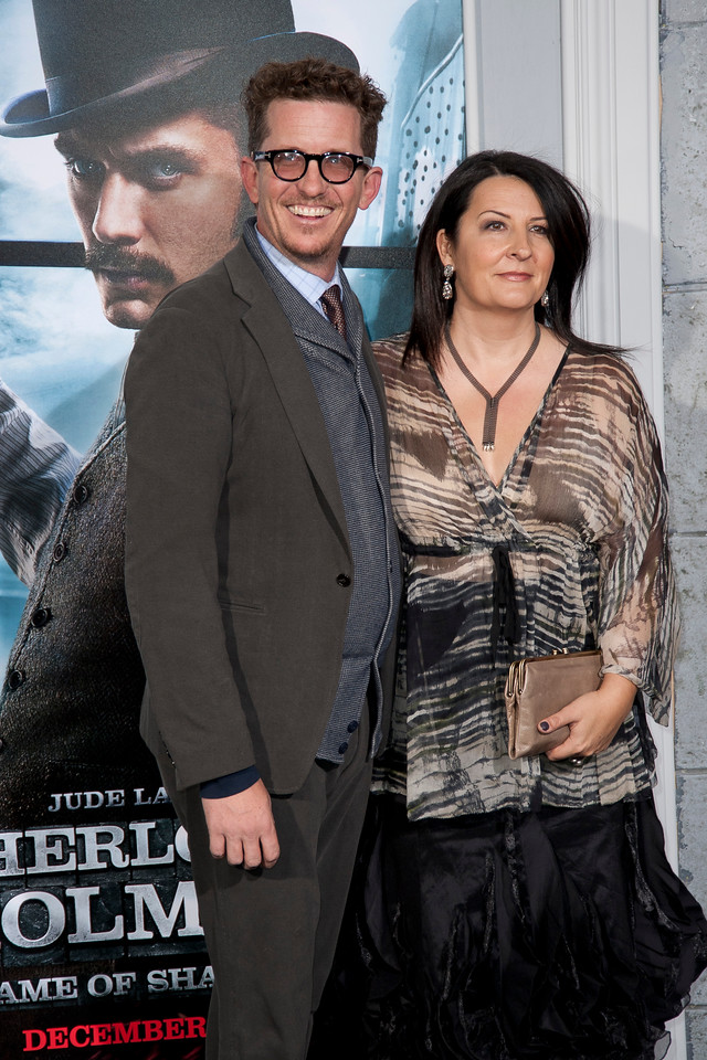 WESTWOOD, CA: Screenwriters Kieran Mulroney and Michele Mulroney arrive at the premiere of Warner Bros. Pictures' 'Sherlock Holmes: A Game Of Shadows' held at the Regency Village Theatre in Westwood, California. Photo taken on Tuesday, December 6, 2011 by Tom Sorensen/Moovieboy Pictures.