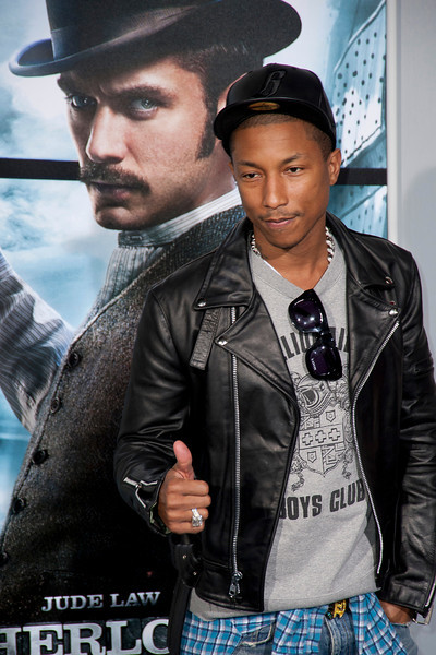 WESTWOOD, CA: Pharrell Williams arrives at the premiere of Warner Bros. Pictures' 'Sherlock Holmes: A Game Of Shadows' held at the Regency Village Theatre in Westwood, California. Photo taken on Tuesday, December 6, 2011 by Tom Sorensen/Moovieboy Pictures.