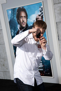 WESTWOOD, CA: The Gofobo Human arrives at the premiere of Warner Bros. Pictures' 'Sherlock Holmes: A Game Of Shadows' held at the Regency Village Theatre in Westwood, California. Photo taken on Tuesday, December 6, 2011 by Tom Sorensen/Moovieboy Pictures.
