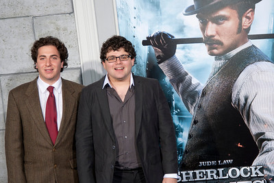 WESTWOOD, CA: Actors Jonathan Brown and Oliver Cooper arrive at the premiere of Warner Bros. Pictures' 'Sherlock Holmes: A Game Of Shadows' held at the Regency Village Theatre in Westwood, California. Photo taken on Tuesday, December 6, 2011 by Tom Sorensen/Moovieboy Pictures.