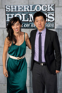 WESTWOOD, CA: Sophia Lin and Producer Dan Lin arrive at the premiere of Warner Bros. Pictures' 'Sherlock Holmes: A Game Of Shadows' held at the Regency Village Theatre in Westwood, California. Photo taken on Tuesday, December 6, 2011 by Tom Sorensen/Moovieboy Pictures.