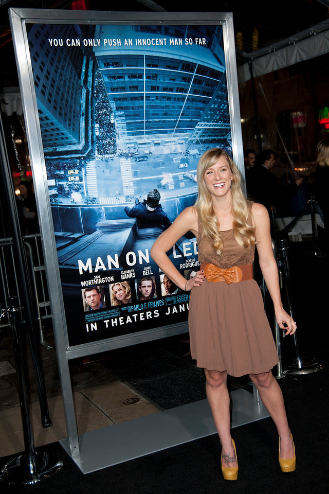 HOLLYWOOD, CA - JANUARY 23: Actress Kristen Qunitrall arrives at the Los Angeles premiere of 'Man on a Ledge' at Grauman's Chinese Theatre on January 23, 2012 in Hollywood, California. Photo taken by Tom Sorensen/Moovieboy Pictures.