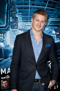 HOLLYWOOD, CA - JANUARY 23: Actor Alexander Ludwig arrives at the Los Angeles premiere of 'Man on a Ledge' at Grauman's Chinese Theatre on January 23, 2012 in Hollywood, California. Photo taken by Tom Sorensen/Moovieboy Pictures.