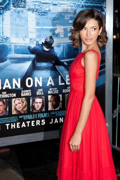 HOLLYWOOD, CA - JANUARY 23: Actress India de Beaufort arrives at the Los Angeles premiere of 'Man on a Ledge' at Grauman's Chinese Theatre on January 23, 2012 in Hollywood, California. Photo taken by Tom Sorensen/Moovieboy Pictures.