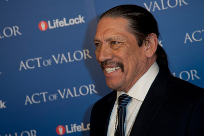 HOLLYWOOD, CA - FEBRUARY 13: Actor Danny Trejo arrives at the premiere of Relativity Media's 'Act Of Valor' held at ArcLight Cinemas on February 13, 2012 in Hollywood, California. Photo taken by Tom Sorensen/Moovieboy Pictures.