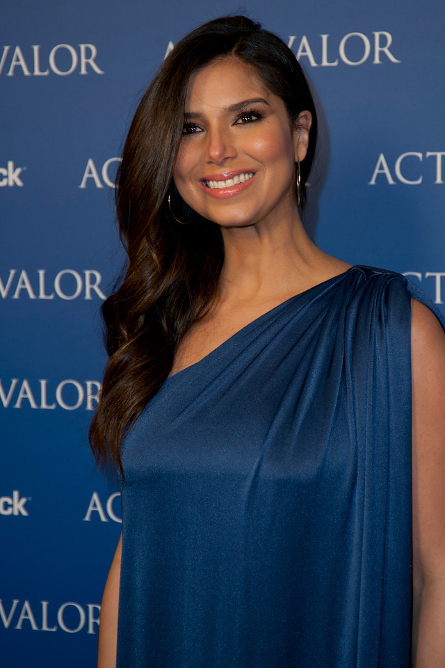 HOLLYWOOD, CA - FEBRUARY 13: Actress Roselyn Sanchez arrives at the premiere of Relativity Media's 'Act Of Valor' held at ArcLight Cinemas on February 13, 2012 in Hollywood, California. Photo taken by Tom Sorensen/Moovieboy Pictures.